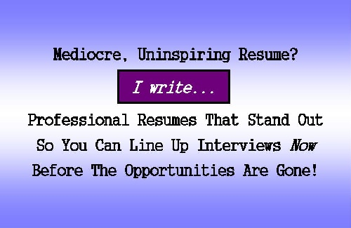 Professional Resumes